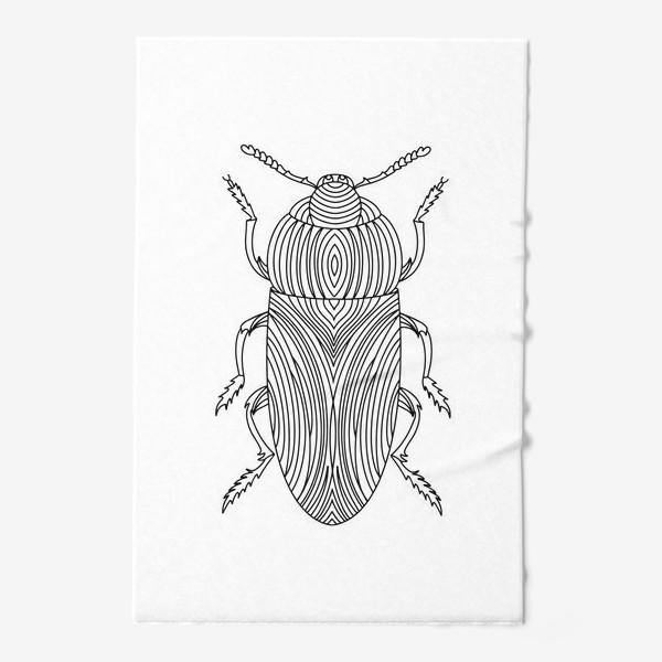 Полотенце «Жук Золотистая Бронзовка. Тропическое насекомое»