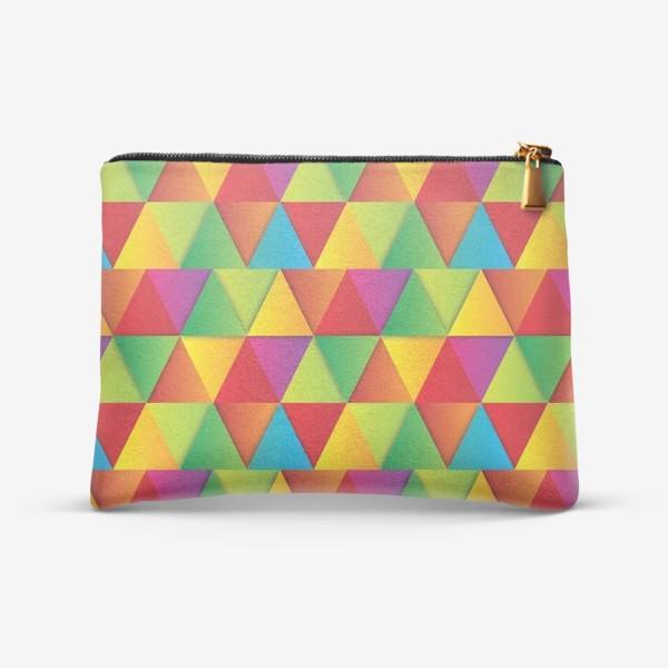 Косметичка «Яркие треугольники»