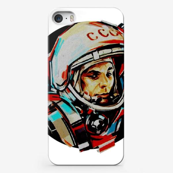 Чехол iPhone «Гагарин. Без фона. День космонавтики. Космос. Небо. Полет.»