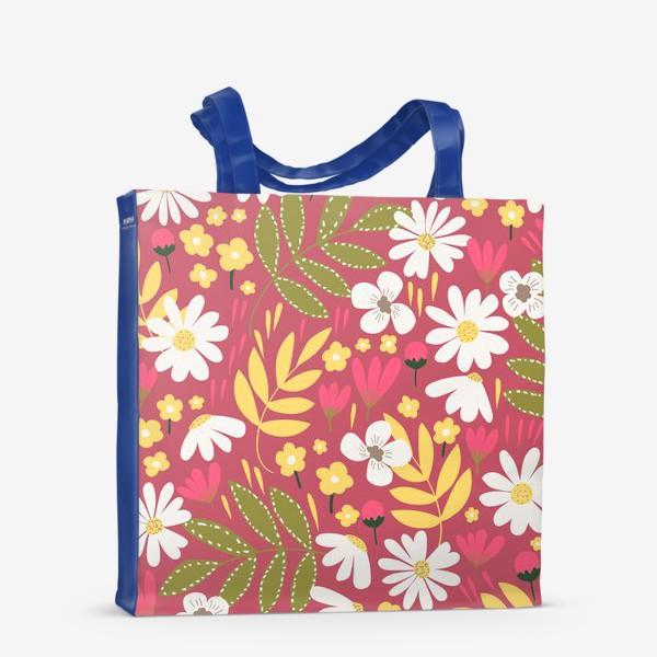Сумка-шоппер «цветочная поляна»