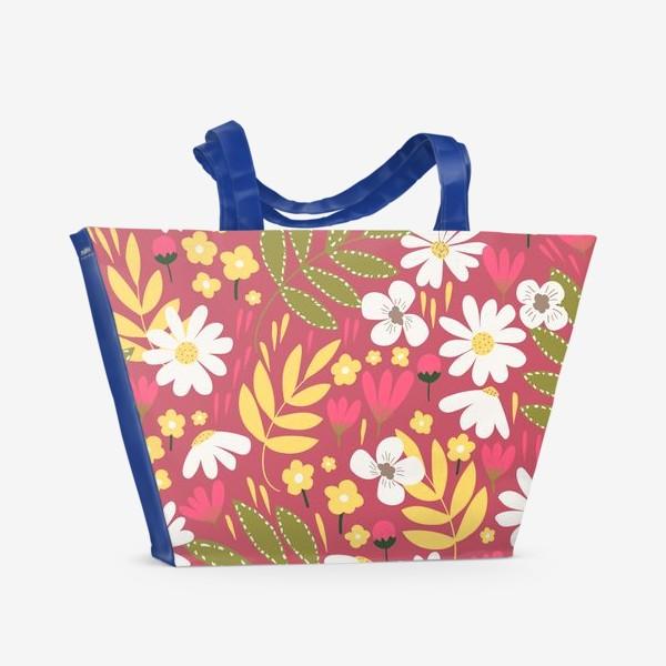 Пляжная сумка «цветочная поляна»