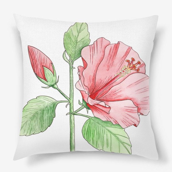 Подушка «Цветущий гибискус»