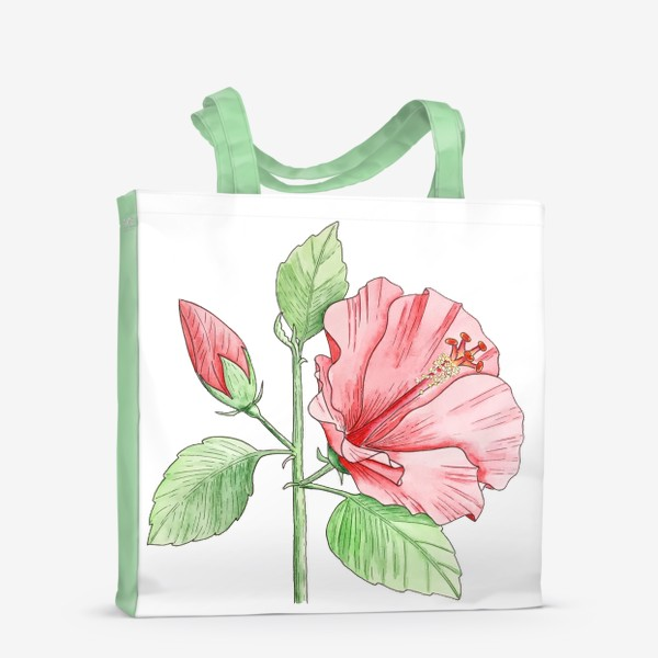 Сумка-шоппер «Цветущий гибискус»