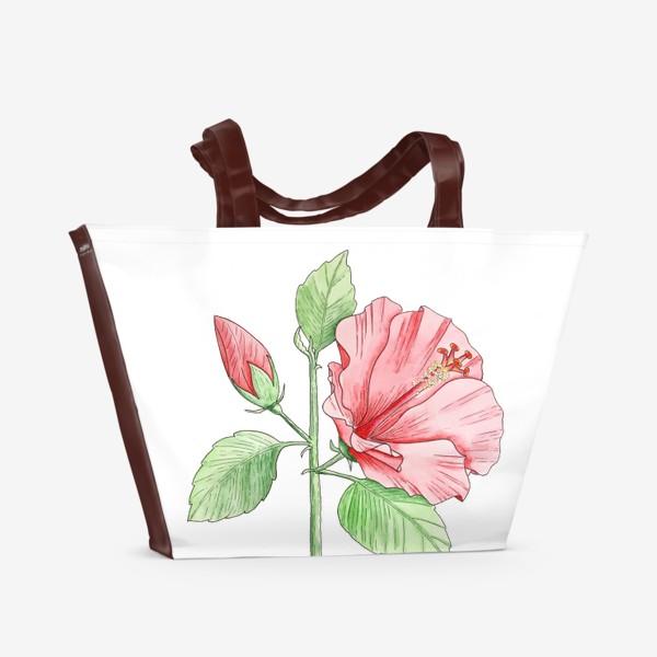 Пляжная сумка «Цветущий гибискус»