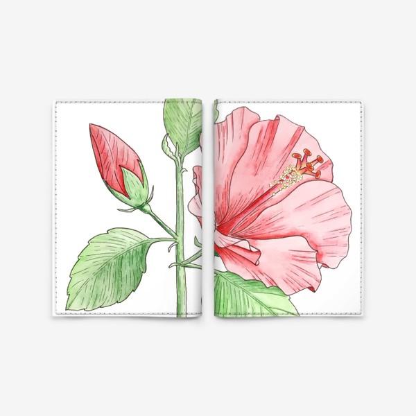 Обложка для паспорта «Цветущий гибискус»