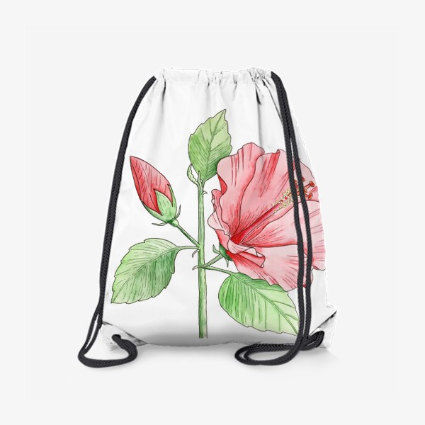Рюкзак «Цветущий гибискус»