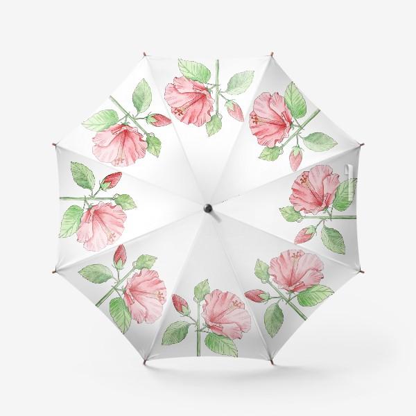 Зонт «Цветущий гибискус»