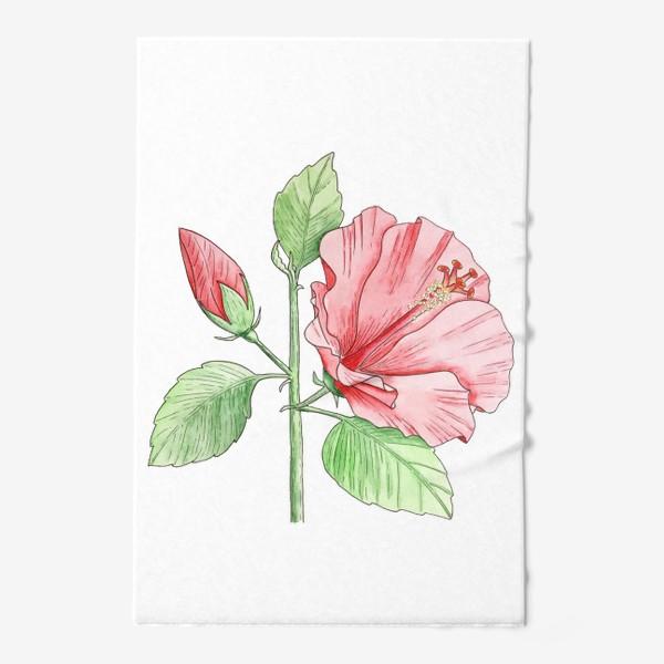 Полотенце «Цветущий гибискус»