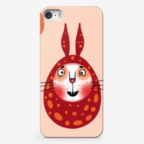 Чехол iPhone «Пасхальный паттерн с зайками»