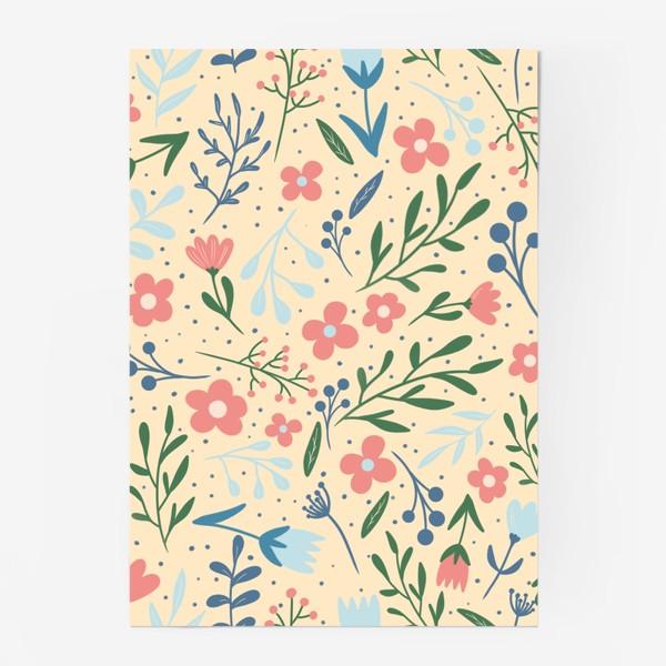 Постер «Принт цветы »