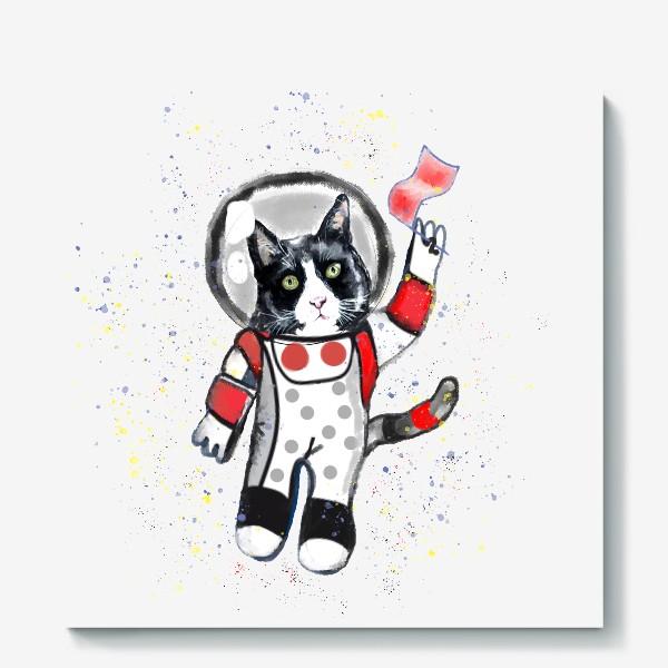Холст «Кот в космосе»