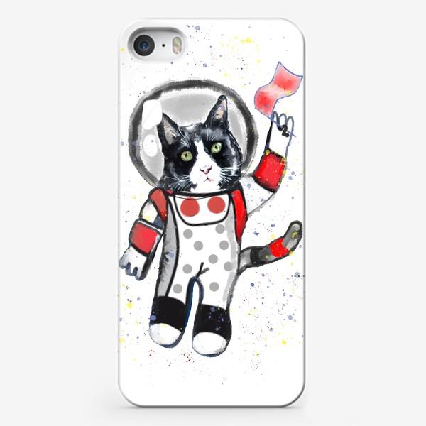Чехол iPhone «Кот в космосе»