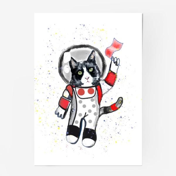 Постер «Кот в космосе»