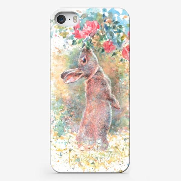 Чехол iPhone «Зайчик цветы»