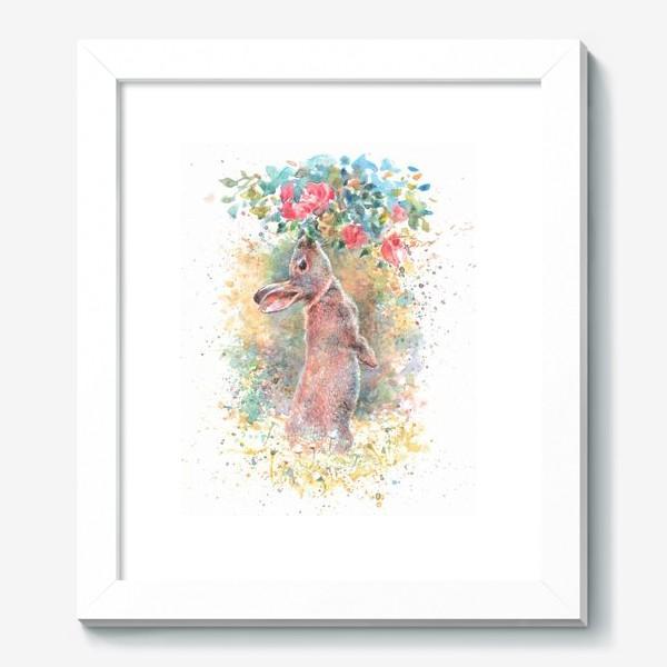 Картина «Зайчик цветы»