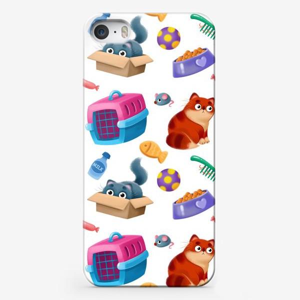 Чехол iPhone «котики и аксессуары»