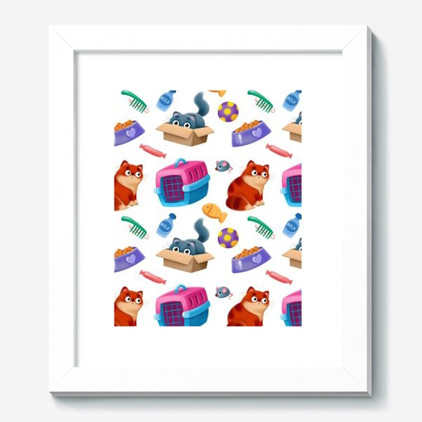 Картина «котики и аксессуары»