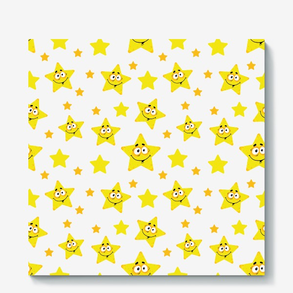 Холст «Небесный звездопад! Паттерн со звездами. »