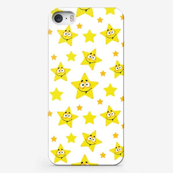 Чехол iPhone «Небесный звездопад! Паттерн со звездами. »