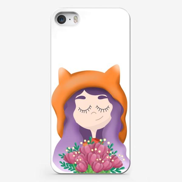 Чехол iPhone «Девочка - лисичка»