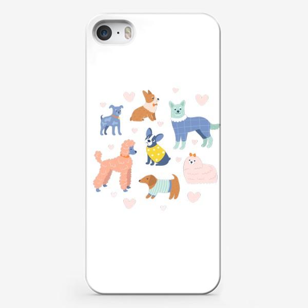 Чехол iPhone «Собаки на прогулке»