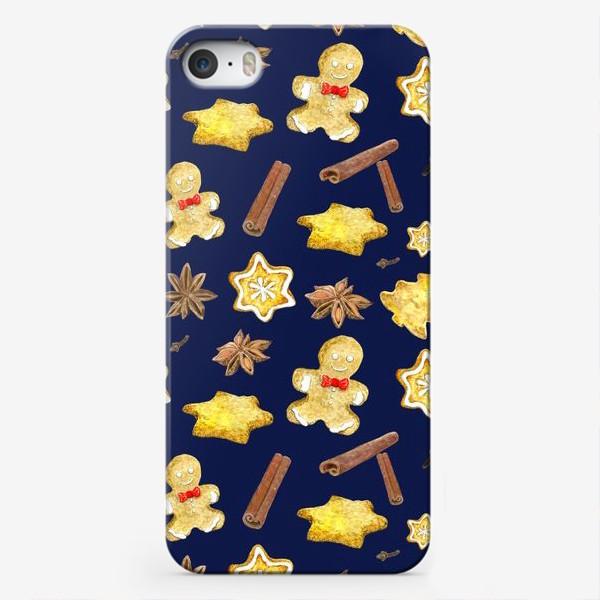 Чехол iPhone «Новогодние сладости с пряностями »