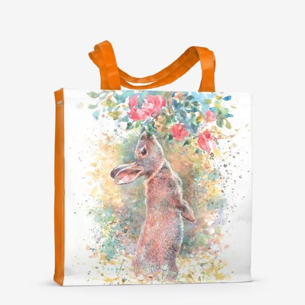 Сумка-шоппер «Зайчик цветы»