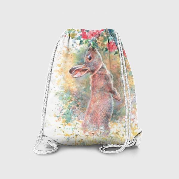 Рюкзак «Зайчик цветы»