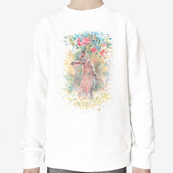 Свитшот «Зайчик цветы»