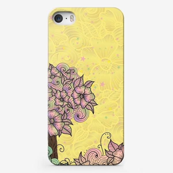 Чехол iPhone «Цветочный куст (зеатлинг)»