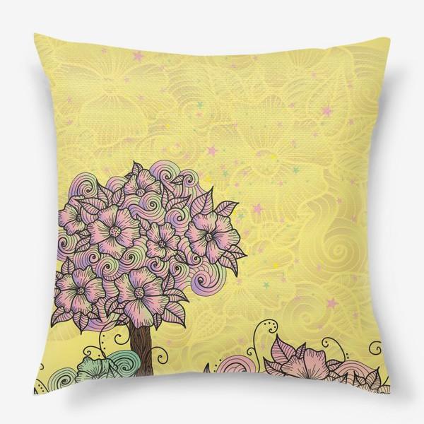 Подушка «Цветочный куст (зеатлинг)»