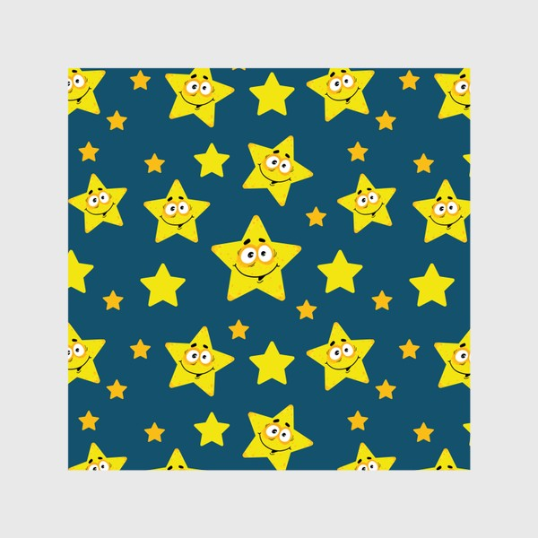 Шторы «Небесный звездопад! Паттерн со звездами на синем фоне.. »