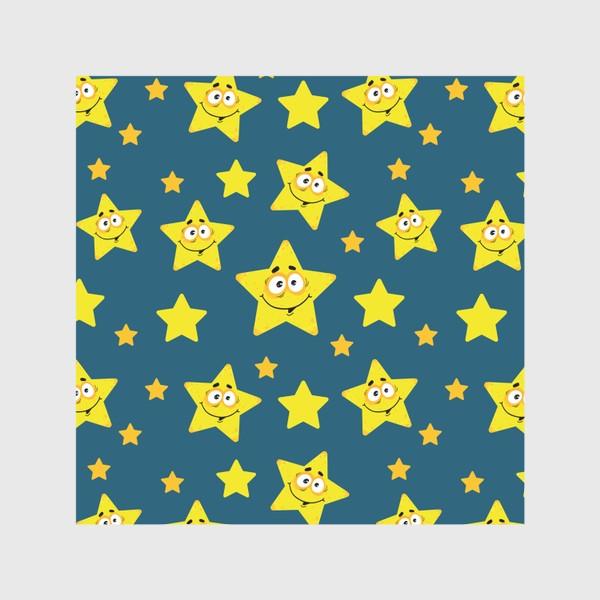 Скатерть «Небесный звездопад! Паттерн со звездами на синем фоне.. »