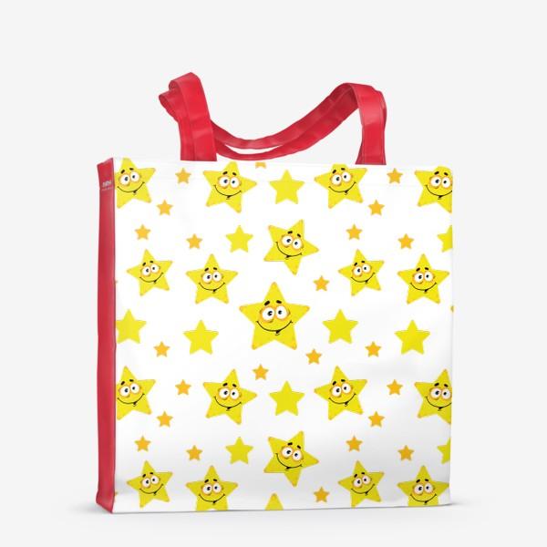 Сумка-шоппер «Небесный звездопад! Паттерн со звездами. »