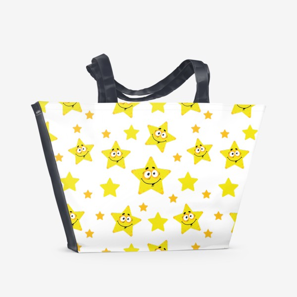 Пляжная сумка «Небесный звездопад! Паттерн со звездами. »
