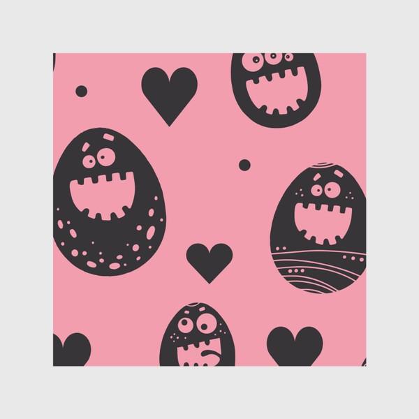 Скатерть «Веселый пасхальный паттерн на розовом»