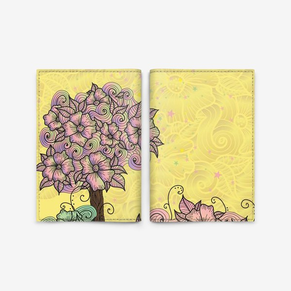Обложка для паспорта «Цветочный куст (зеатлинг)»