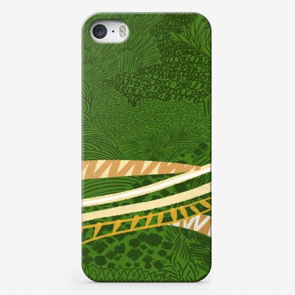 Чехол iPhone «Зеленый лес стилизация»