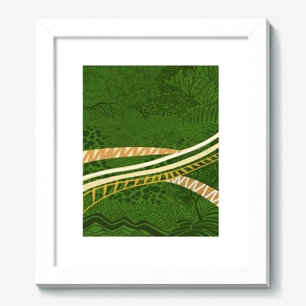 Картина «Зеленый лес стилизация»