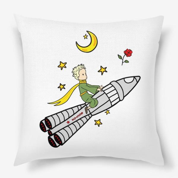 Подушка «Маленький принц на ракете»