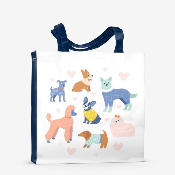 Сумка-шоппер «Собаки на прогулке»