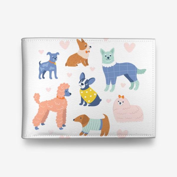 Кошелек «Собаки на прогулке»