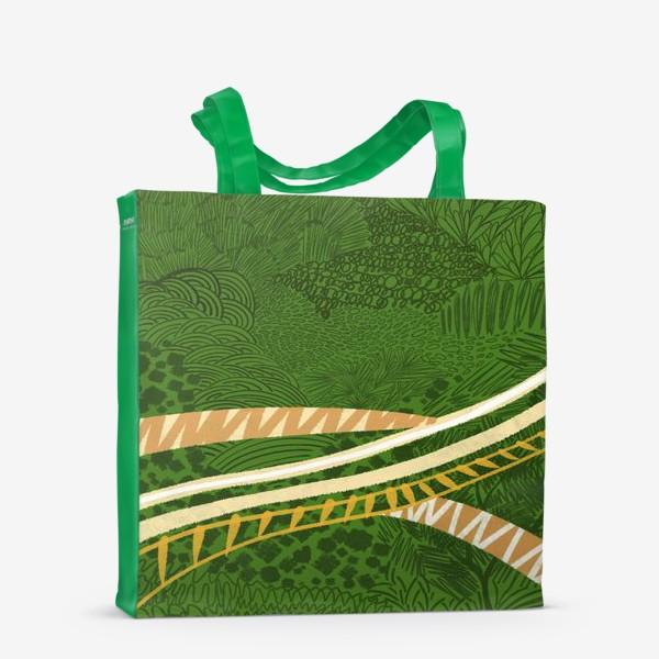 Сумка-шоппер «Зеленый лес стилизация»