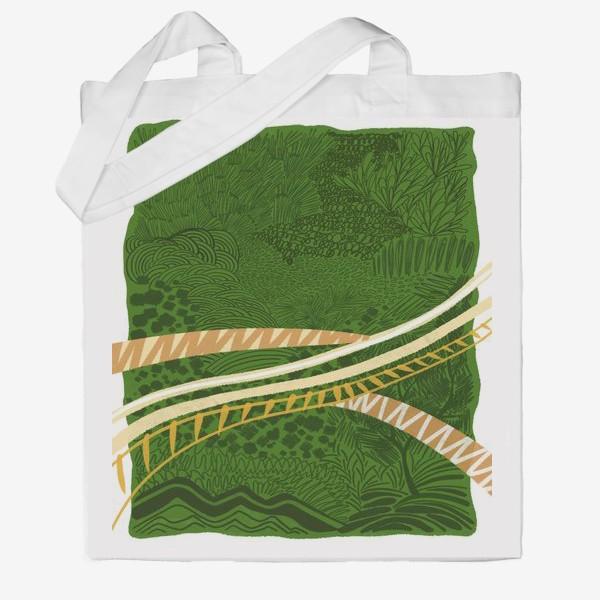 Сумка хб «Зеленый лес стилизация»