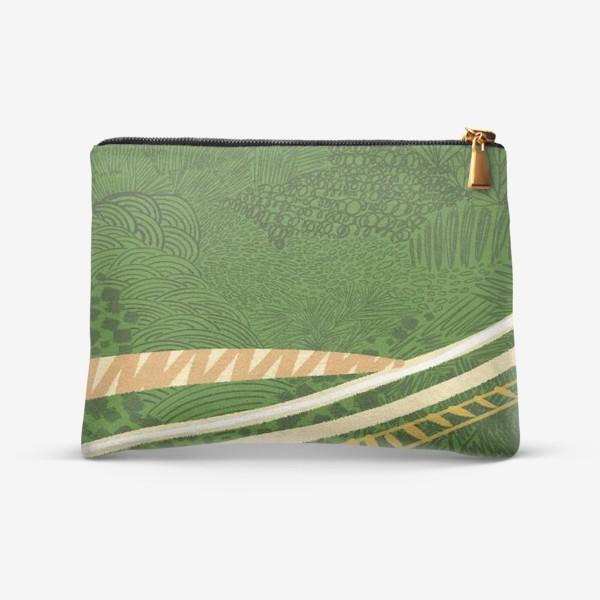 Косметичка «Зеленый лес стилизация»