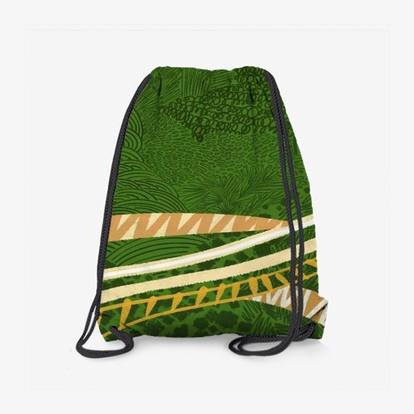 Рюкзак «Зеленый лес стилизация»