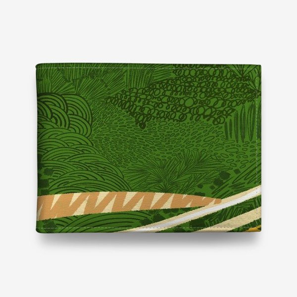 Кошелек «Зеленый лес стилизация»