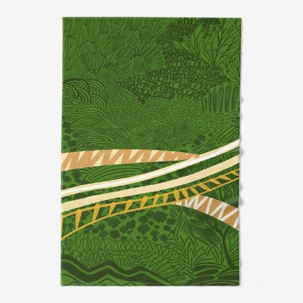 Полотенце «Зеленый лес стилизация»