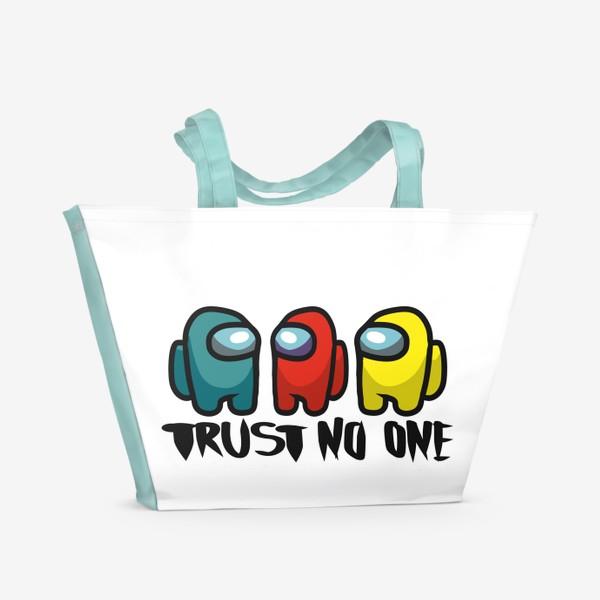 Пляжная сумка «Among us. Trust no one»