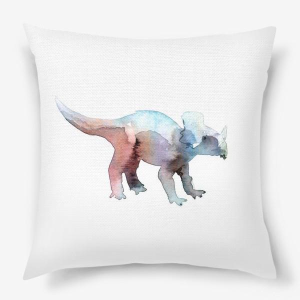 Подушка «Динозаврик акварельный.»